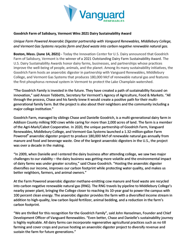 Sustainability Awards Press Release