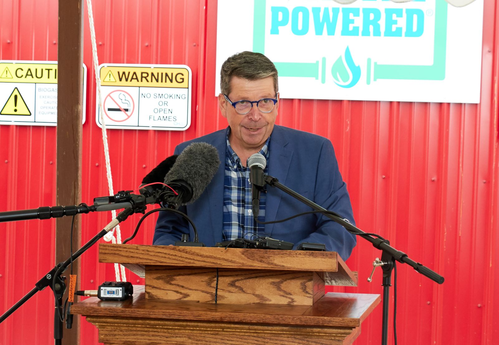 Anson Tebbetts – Vermont Secretary of Agriculture at Goodrich Farm Digester Opening Ceremony