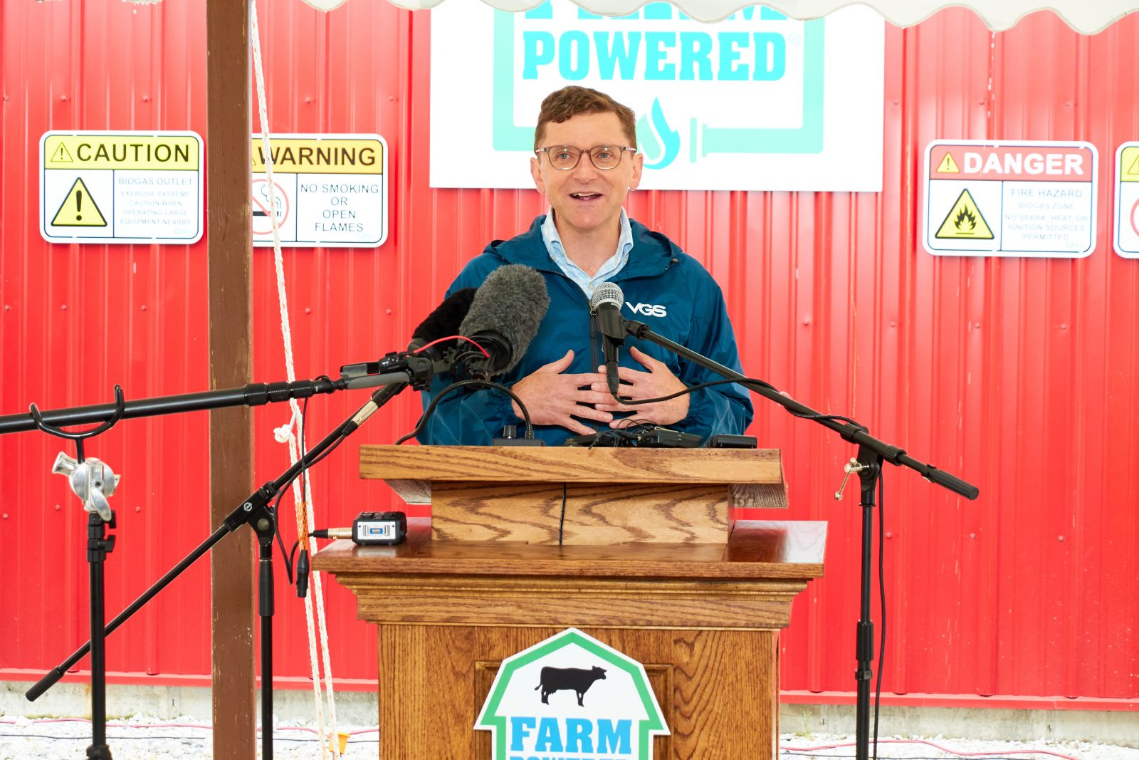 Neale Lunderville – President & CEO of VGS at Goodrich Farm Digester Opening Ceremony