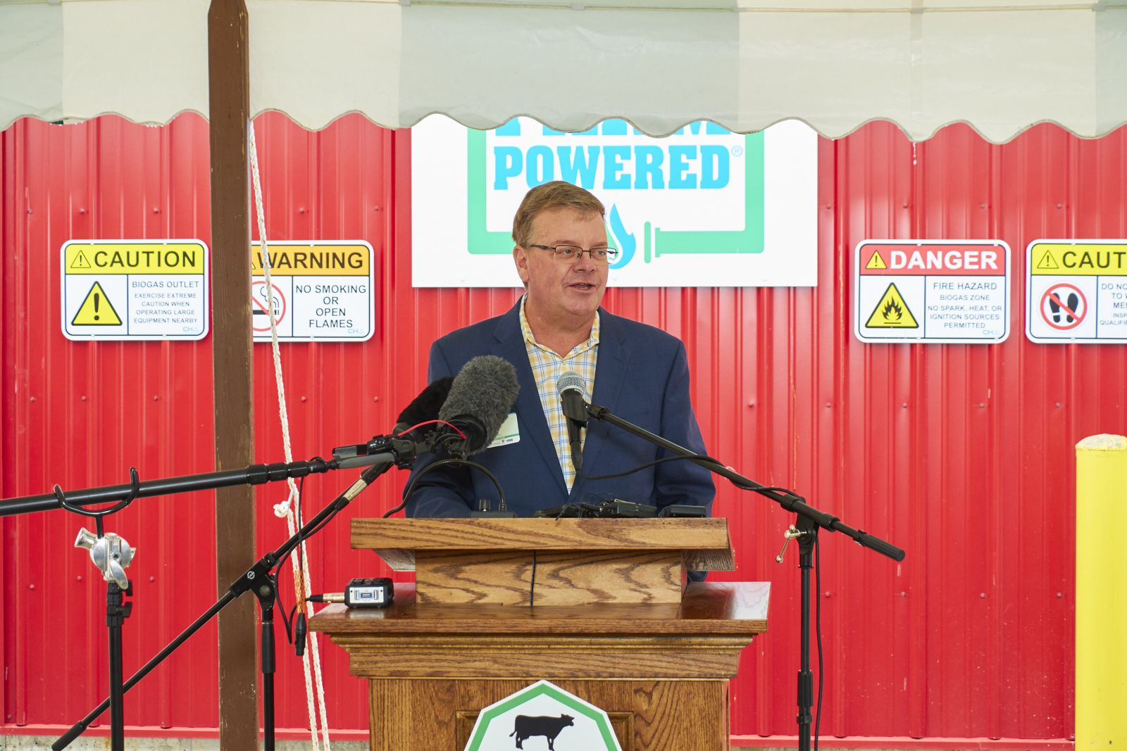 David Provost, Exec. VP_Finance and Administration and Treasurer - Middlebury College at Goodrich Farm Digester Opening Ceremony